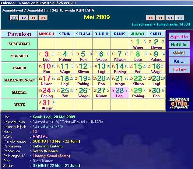 free  software jam dan kalender